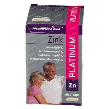 Mannavital Zink Platinum V-Caps 60 capsules