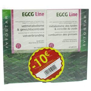 Fytostar Egcg Line Vetverbranding Duopack -10 € 120 capsules