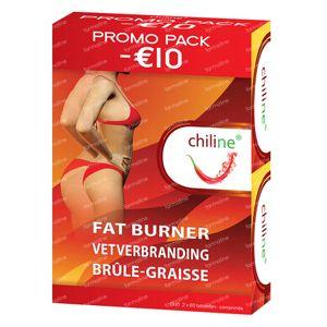 Chiline Vetverbranding Duopack -10 € 2x60 tabletten