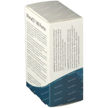 Springfield MenaQ7 Forte Vitamine K2 180 mcg 60 comprimés