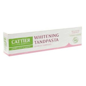 Cattier Tandpasta Whitening Gevoelige Tanden 75 ml