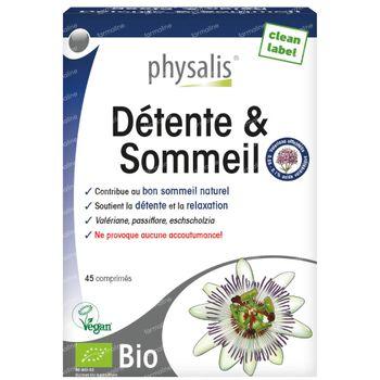 Physalis Relax & Sleep Bio 45 comprimés