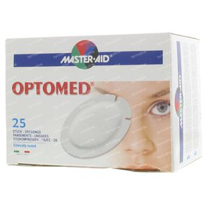 Optomed Oogkompres ADH Latexvrij 96x66mm* 25 stuks