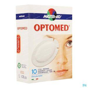 Optomed Oogkompres ADH Latexvrij 96x66mm 10 stuks