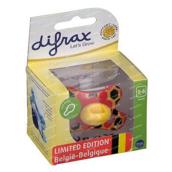 Difrax Sucette Belgique Combi 0-6 Moins 1 pièce