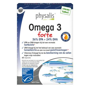 Physalis Omega 3 Forte Nieuwe Formule 60 capsules