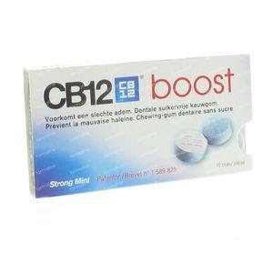 CB12 Boost Menthe Forte Gomme à Mâcher 10 St