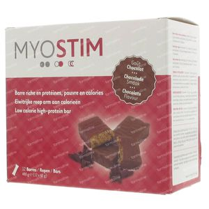 Myostim Proteïnereep Melkchocolade 12 stuks