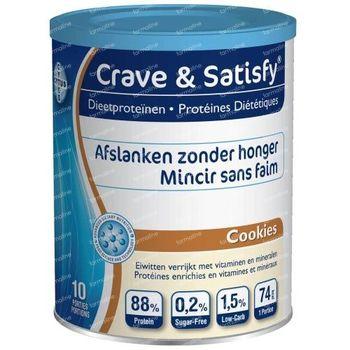 Crave & Satisfy Protéines Diététique Cookies 200 g poudre