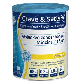 Crave & Satisfy Protéines Diététique Banana 200 g poudre