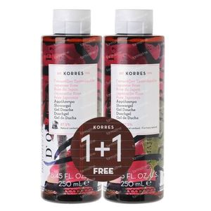 Korres KB Gel Douche Japanese Rose 1+1 GRATUIT 2x250 ml