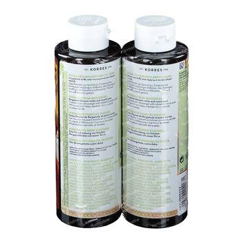 Korres KB Gel Douche Bergamote - Poire 1+1 GRATUIT 2x250 ml