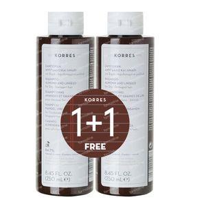 Korres KB Shampooing Amande - Lin 1+1 GRATUIT 2x250 ml