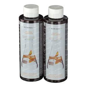 Korres Shampoo Sunflower & Tea 1+1 2x250 ml