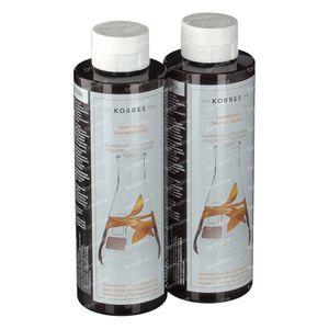 Korres Shampoo Zonnebloem & Bergthee 1+1 250 ml