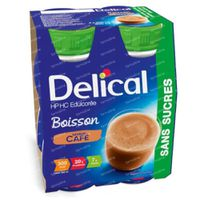 Delical HP-HC with Sweeteners Coffee 4x200 ml