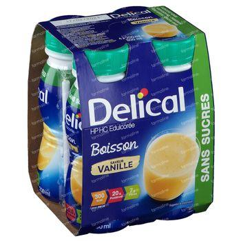 Delical Boisson au Lait hp-hc Vanille Sans Sucre 800 ml