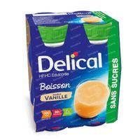 Delical Melkdrank  hp-hc Vanille Zonder Suiker 800 ml