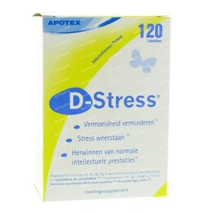 D-Stress Anti-Vermoeidheid 120 tabletten