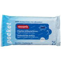 Assanis Lingettes Antibactériennes 25  lingettes