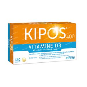 Kipos Vitamine D 400 120 capsules