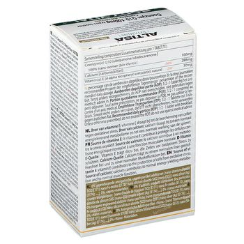 Altisa Q10 100mg + E + Lecithine + Calcium 60 comprimés