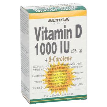 Altisa Vitamine D 1000IU + Beta-Carotene 45 capsules