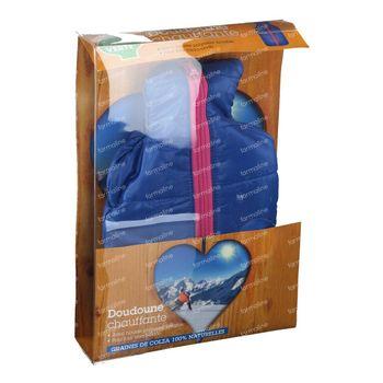Marque V Warmtekussen Doudoune Blauw 1 stuk