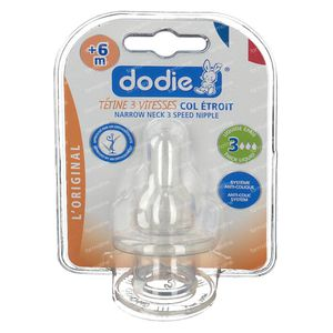 Dodie Dummy Small 2 Age 3 Speeds Thick Food 2 pezzi