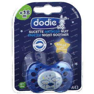 Dodie Sucette Silicone Nuit +18M 1 pièce