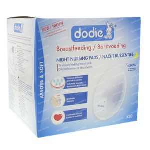 Dodie Breast Pads Night + Tape 30 pieces