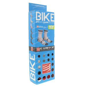 Compressport Proracing Chaussettes Bicyclette BL/RE Taille 2 1 pièce