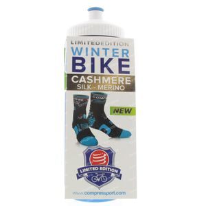 Compressport Hiver Chaussettes Bicyclette BL/OR Taille 3 1 pièce
