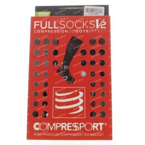 Compressport Sokken Zwart Maat 3M 1 stuk