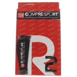 Compressport Kuit r2 Black Maat 1 1 stuk