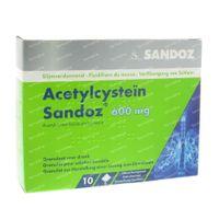 Acetylcysteïne Sandoz 600mg 10  zakjes