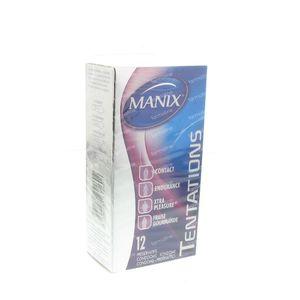 Préservatifs Manix Tentations Mix 12 pièces