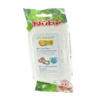 Nuby Citroganix Antibactérien Lingettes Pour La Sucette 48 pièces