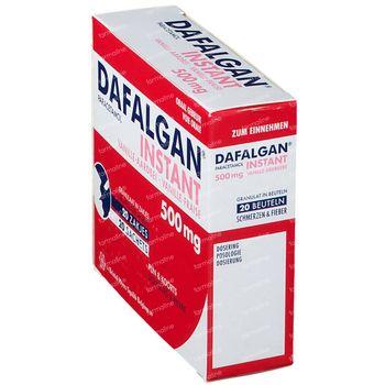 Dafalgan Instant Vanille/Fraise 500mg 20 sachets