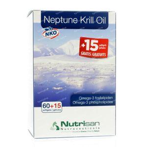 Nutrisan Neptune Krill Oil Softgel 15 FREE 75 capsule