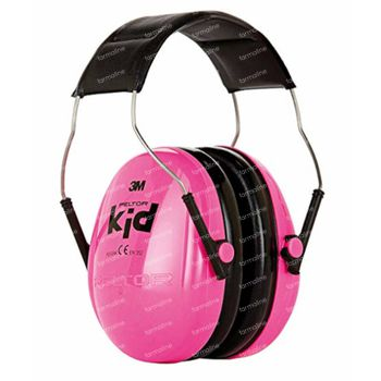 Peltor Kid Hearing Protection Neon Pink 1 pièce