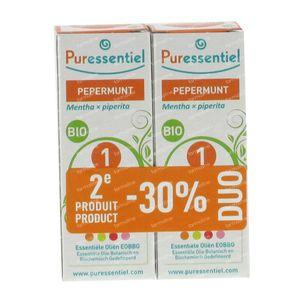 Puressentiel Essentiële Olie Pepermunt Bio Duo 2x10 ml