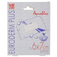 Euroderm Plus Waterproof Steriele Pleister 6x7cm 5 st