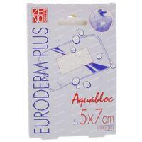 Euroderm Plus Waterproof Steriele Pleister 5x7cm 5 st