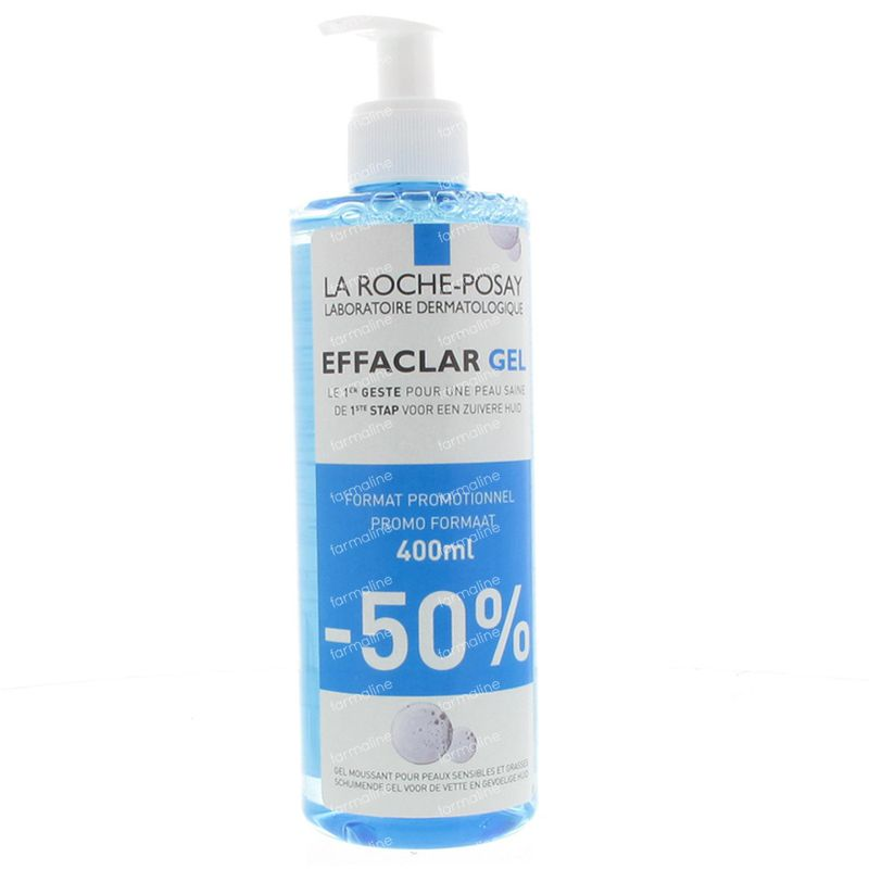 la roche posay effaclar gel mousse purifiant prix promo 400 ml flacon commander ici en ligne. Black Bedroom Furniture Sets. Home Design Ideas