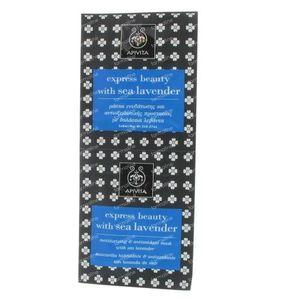 Apivita Express Hydraterend Gezichtsmasker met Zeelavendel 2x8 ml