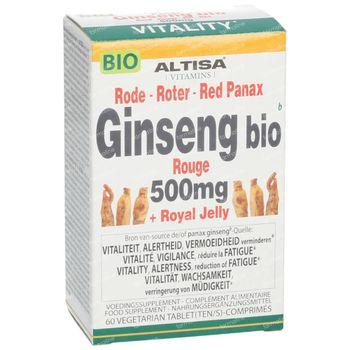 Altisa Panax Ginseng + Gelée Royale Bio 60 comprimés