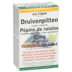 Altisa Rode Druivenpit Extra 80mg 60 capsules