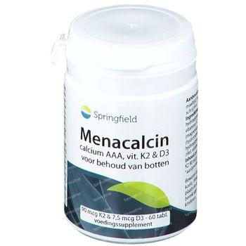 Springfield Menacalcin Vitamine K 60 tabletten