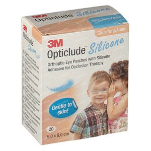 Opticlude Silicone Oogpleister Mini 5cm x 6cm 2737ST20 20 stuks